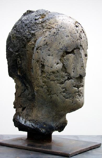 Kopf | Mischtechnik | 2003 | H: 38 cm